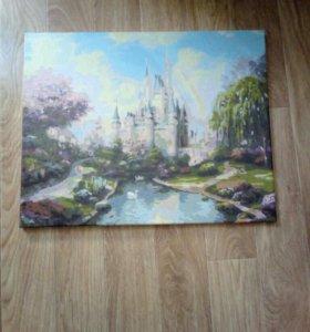 Картина написана акриловой краской