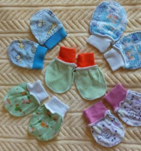 Царапки рукавички для новорожденных