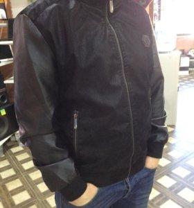 Кожаная куртка Philipp Plein XXL