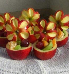 Нарезки из овощей и фруктов