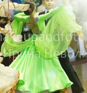 Платье для спортивных бальных танцев. Торг