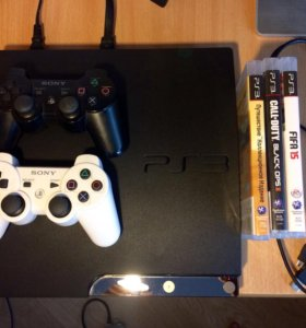 Playstation 3 Slim + 10 игр