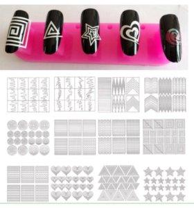 Крутые трафареты для дизайна ногтей.