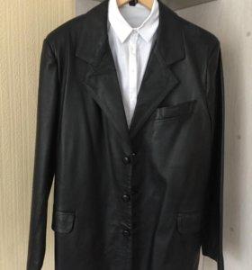 Кожаный пиджак(новый)