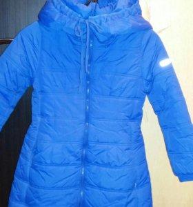 Зимний пуховик-пальто
