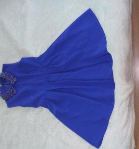Синее платье женское