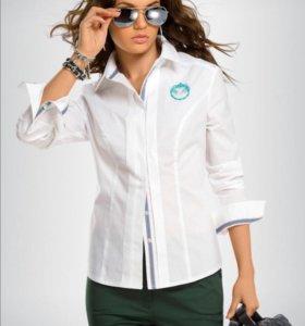 Белая блузка рубашка 44 р., цена в магазине 2296р.