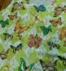 Маечка с бабочками люрекс