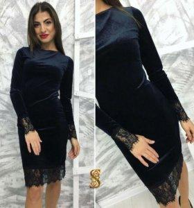 Новые платья велюр