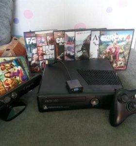 Xbox 360 с кинектом и играми