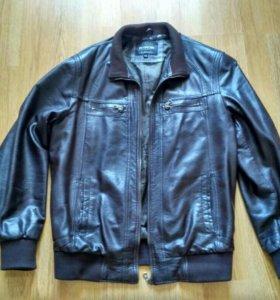 Кожаная куртка, мужская 48 размер