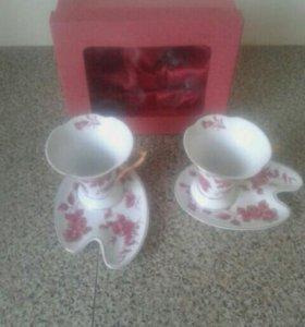 Новая красивая чайная пара
