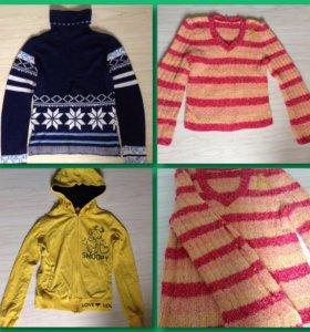 Кофта, шапка, водолазка, свитер