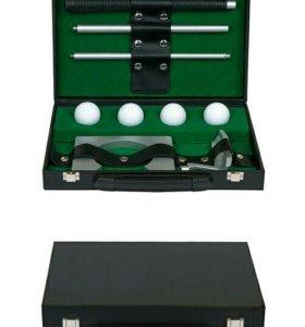 Премиум-набор для гольфа в кожаном кейсе