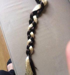 Искусственные волосы для наращивания.