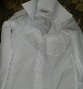 Белая рубашка на 110-116