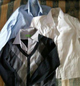 Рубашки и джемпер