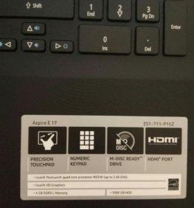 Ноутбук Acer Aspire E17