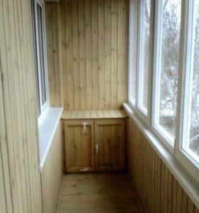 отделка балконов,лоджий,других помещений