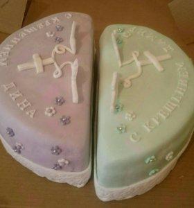 Торт с крещением