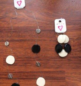 Комплект: длинное ожерелье и браслет