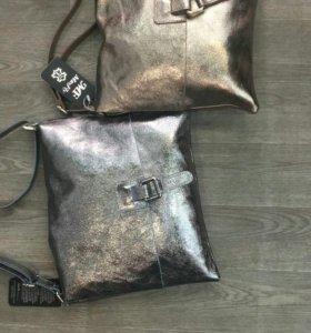 Новые кожаные сумочки Италия