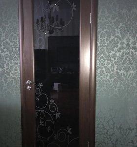 Дверь стекло со стрсзами