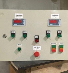 Монтаж электропроводки , щитов управления