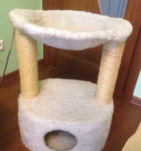 Кошачий домик с лежаком когтеточилкой и гамаком