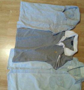 рубашка, поло короткий рукав на рост 146-158