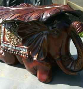 Слон стол для интерьера