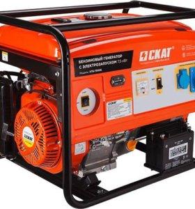 УГБ-7500Е Бензиновый генератор 7.5 кВт.(б/у, о/с)