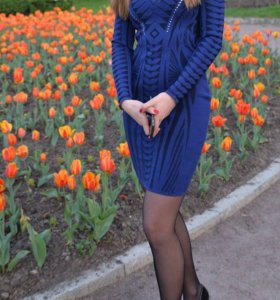 Платье синее Love Republic