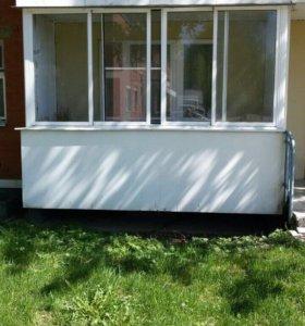 Раздвижные алюминиевые рамы на балкон