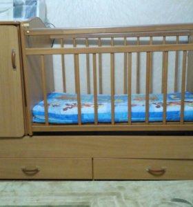 Кроватка-маятник-трансформер