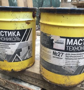 Мастика приклеивающая ТехноНИКОЛЬ № 27 ведро 22 кг