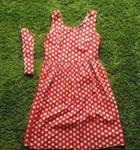 Красное платье в белый горошек
