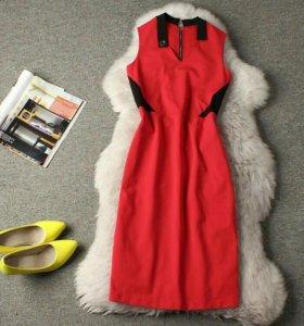 Платье с молнией сзади на худышку новое