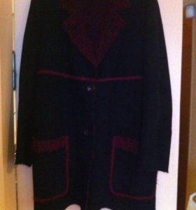 Пальто-пиджак  демисезонное , замша.