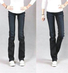 Синие прямые джинсы новые