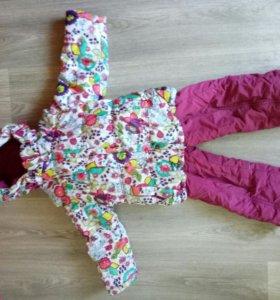 Зимний костюм на девочку Kiko