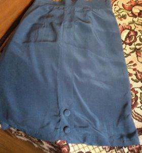 Юбка натуральный шёлк на подкладке размерS/M