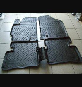 Резиновые коврики на все модели авто