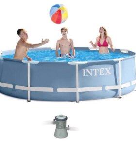 Новый каркасный бассейн Intex 305*76(от склада)