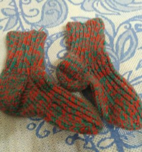 Вязаные носочки даром