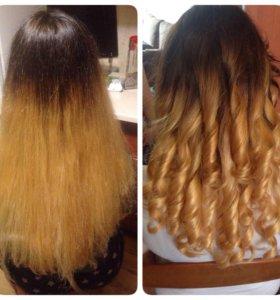 Стрижка, причёска,окрашены волосы, омбое...