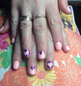 Покрытие ногтей гель лаком💅🏼