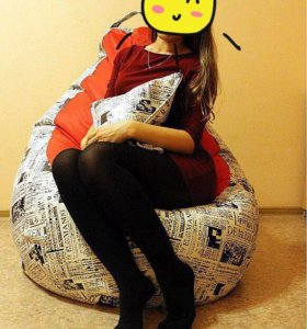 Кресло-мешок из мебельной ткани