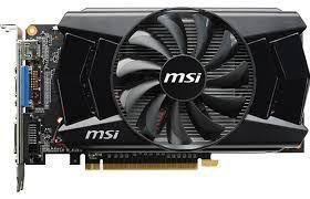 MSI NVidia GeForce GTX750ti 2gb