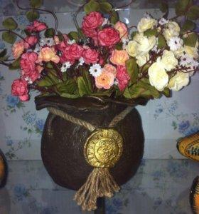 Горшочек для композиций цветов